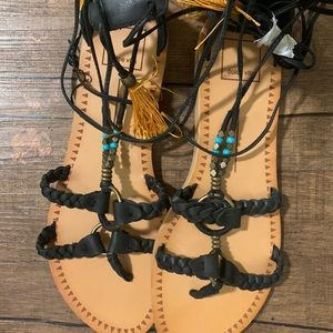 Dolce vita sandals with ties
